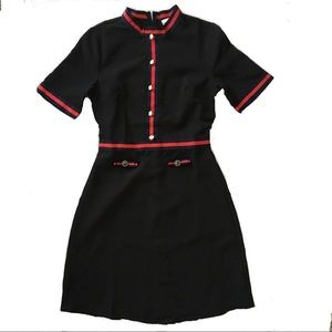 Dresses & Skirts - Black Dress with Red & Navy Ribbon Trim